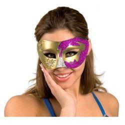 Maska wenecka fioletowa
