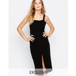 Twin Sister Midi Dress With Strappy Back - Black