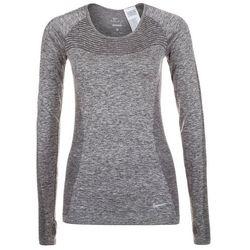 Nike Performance Bluzka z długim rękawem black/reflective silver