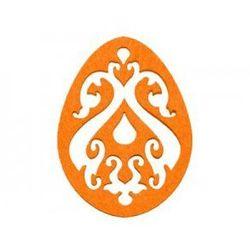 Dekoracja z filcu PISANKA AŻUR duża (I) pomarańczowa - 1 SZTUKA
