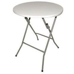 Składany Stół Okrągły | Biały | Ø600 mm