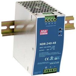 Zasilacz na szynę DIN Mean Well NDR-240-24, 240 W, 1 x