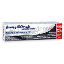BEVERLY HILLS NATURAL WHITE Total Breath Black 75+25ml - wybielająca pasta do zębów z aktywnym węglem - NOWOŚĆ