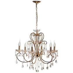 Żyrandol LAMPA wisząca AURORA 36-98354 Candellux metalowa OPRAWA świecznikowa kryształki złoty