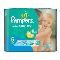 Pampers, Active Baby-Dry Junior, Value Pack - 36 szt.