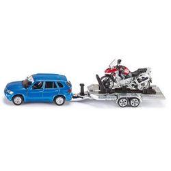 Zabawka SIKU Samochód BMW X5 Z Lawetą I Motorem