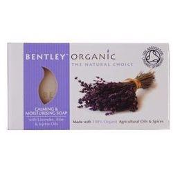 Bentley Organic łagodząco-nawilżające mydło z aloesem, lawendą i jojobą 150 g