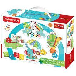 TREFL Baby Classic, Rainbow Forest zebra, żyrafa, słonik, krokodyl
