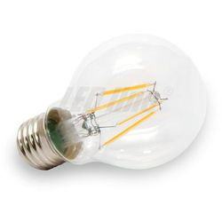 Żarówka LED Filament E27 230V 4W biała ciepła GLOBE