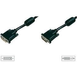 Przedłużacz TV, Monitor DVI, [1x Złącze męskie DVI 24+1-pin <=> 1x Złącze żeńskie DVI 25-pin], 4.50 m, Czarny