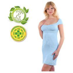 Babyono - Koszulka nocna dla matek karmiących - błękitna - M