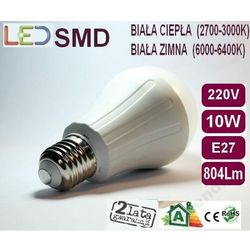 Żarówka Globe LED 2835 E27 10W=100W biała zimna