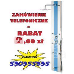 OSTATNIE SZTUKI !   Panel prysznicowy z hydromasażem Araga S-011 niebieskie szkło , CORSAN   Transport gratis! NOWA PROMOCJA - RABAT 40,00 przy zamówieniu telefonicznym !