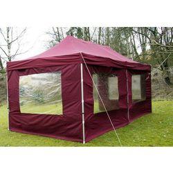 Rovens.pl Pawilon 3x6 m - namiot automatyczny + ścianki, bordowy