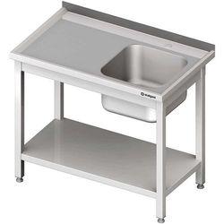Stół ze zlewem 1-kom.(p),z półką 800x700x850 mm skręcany