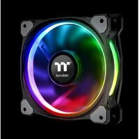 Thermaltake wentylator do obudowy thermaltake riing plus 14 rgb tt premium 3 pack cl-f056-pl14sw-a (140 mm; 1400 obr/min; rgb)
