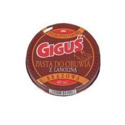 Pasta do obuwia Giguś brązowa z lanoliną 40 ml