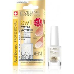 Eveline Nail Therapy Lakier odżywka Total Therapy 8w1 Golden Shine 12ml