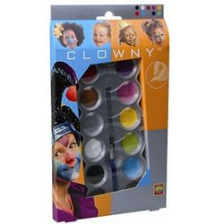 Clowny - Farby wodne do malowania twarzy 10 kol.