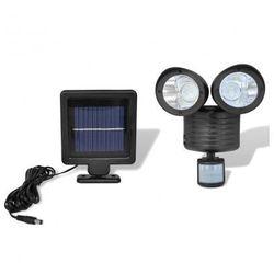Podwójny reflektor solarny LED z czujnikiem ruchu Zapisz się do naszego Newslettera i odbierz voucher 20 PLN na zakupy w VidaXL!