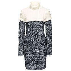 76bed6bad9 suknie sukienki kremowa sukienka (od Sukienka dzianinowa bonprix ...