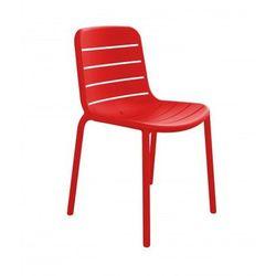 Designerskie krzesło ogrodowe do hotelu, restauracji, bistro Resol Gina czerwone