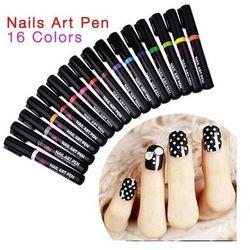 Nail Art Pen Mazak do zdobienia paznokci Nr 13 Ciemny Zielony 7ml - Nr 13 Ciemny Zielony