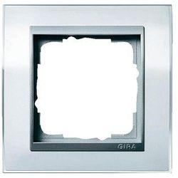 Ramka pojedyncza aluminiowy Gira Event Clear biały