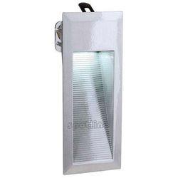 Zewnętrzna LAMPA ścienna DOWNUNDER LED 15 230311 Spotline schodowa OPRAWA wpust IP44 outdoor aluminium szczotkowane