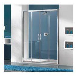 Drzwi przesuwne Sanpast 4/TX5b, czteroczęściowe, 130x190 cm, szkło przejrzyste W0, Glass Protect 600-271-1230-38-401