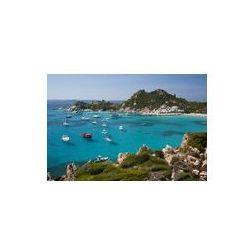 Foto naklejka samoprzylepna 100 x 100 cm - Cala corsara, wspaniałe wody morskiej w Spargi