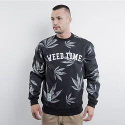 Mass Denim bluza Blvck Weed crewneck black