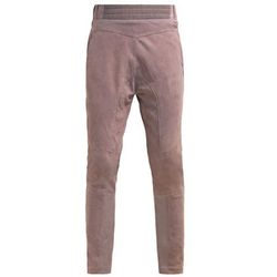 Mos Mosh Spodnie skórzane grey