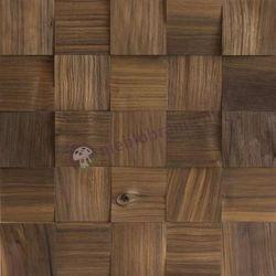 Panele drewniane Orzech amerykański Kostka Łupana 3D *017 - Natural Wood Panel