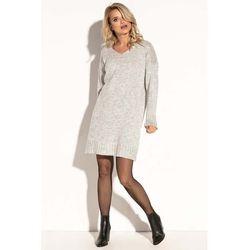 26db2ef69e suknie sukienki szara sportowa sukienka z dekoltem v bez rekawow ...
