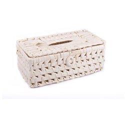 LIŚĆ PALMOWY Pudełko na chusteczki z liścia palmowego o wymiarach 25x14,5x10cm