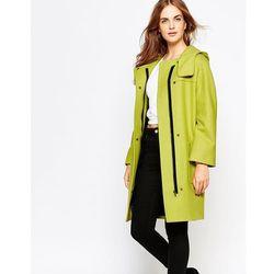 Cooper & Stollbrand Zip Duffle Coat with Hood - Green