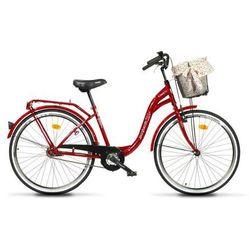 Burghardt Rower miejski 28 Łabędź Czerwony - Gwarancja terminu lub 50 zł! - Bezpłatny odbiór osobisty: Wrocław, Warszawa, Katowice, Kraków