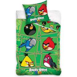 Tip Trade Dziecięca bawełniana pościel Angry Birds Green, 140 x 200 cm, 70 x 80 cm