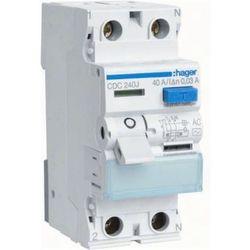 Hager - RCCB Wyłącznik różnicowoprądowy 2P 25A/30mA Typ AC - CDC225J