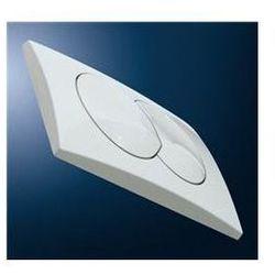 Przycisk Geberit Delta 20 uruchamiający przedni do spłuczek podtynkowych UP100 - biały-Alpin 115.100.11.1