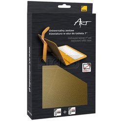 ART ETUI + KLAWIATURA micro+mini USB DO TABLETU 7'' AB-101D żółte - TORTAB AB-101D
