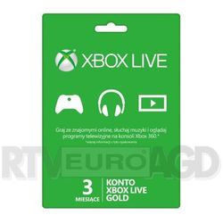Doładowanie Xbox Live Gold (3 m-ce karta zdrapka) - produkt w magazynie - szybka wysyłka! Darmowy transport od 99 zł   Ponad 200 sklepów stacjonarnych   Okazje dnia!