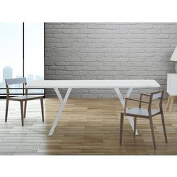 Stól do jadalni, kuchni, salonu - 180 cm - bialy - LISALA