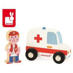 Janod Ambulans z lekarzem zestaw drewniany