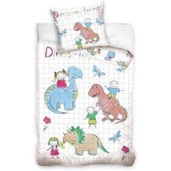 Tip Trade Dziecięca pościel bawełniana Dino, 140 x 200 cm, 70 x 90 cm