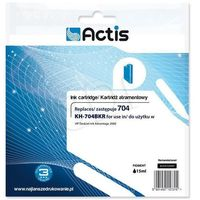 Actis KH-704BKR tusz czarny do drukarki HP (zamiennik HP 704 CN692AE) Standard- wysyłka dziś do godz.18:30. wysyłamy jak na wczoraj!