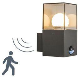 Lampa zewnętrzna ścienna Denmark z czujnikiem ruchu ciemnoszara