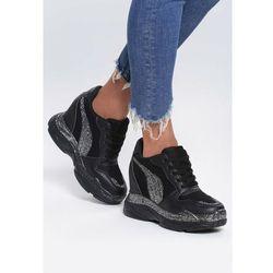 c1514179 skorzane sneakersy na koturnie czarny w kategorii Pozostałe obuwie ...