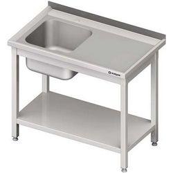 Stół ze zlewem jednokomorowym z półką STALGAST 1700x600x850 lewy